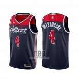 Camiseta Washington Wizards Russell Westbrook NO 4 Association 2020-21 Azul