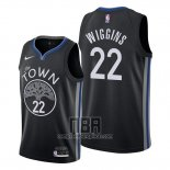 Camiseta Golden State Warriors Andrew Wiggins NO 22 Ciudad 2019-20 Negro