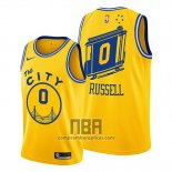 Camiseta Golden State Warriors D'angelo Russell NO 0 Hardwood Classics 2019-20 Oro