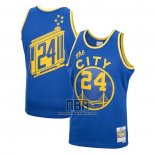 Camiseta Golden State Warriors Rick Barry NO 24 Mitchell & Ness 1966-67 Azul