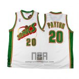Camiseta Historic Retro Seattle SuperSonics Gary Payton NO 20 Blanco