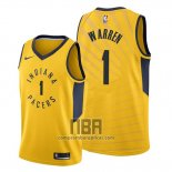Camiseta Indiana Pacers T.j. Warren NO 1 Statement Oro