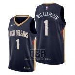 Camiseta New Orleans Pelicans Zion Williamson NO 1 Icon 2019-20 Azul