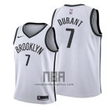 Camiseta Nino Brooklyn Nets Kevin Durant NO 7 Association 2019 Blanco