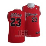 Camiseta Nino Chicago Bulls Michael Jordan NO 23 Rojo2
