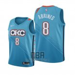 Camiseta Nino Oklahoma City Thunder Alex Abrines NO 8 Ciudad Edition 2018-19 Azul