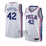 Camiseta Philadelphia 76ers Al Horford NO 42 Association 2019-20 Blanco