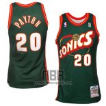 Camiseta Seattle SuperSonics Gary Payton NO 20 Historic Retro Verde