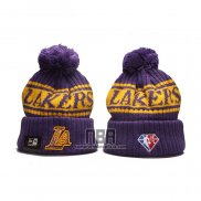 Gorro Beanie Los Angeles Lakers Violeta Amarillo