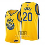 Camiseta Golden State Warriors Alec Burks NO 20 Statement 2019-20 Amarillo