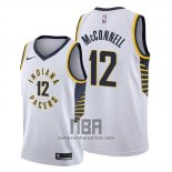 Camiseta Indiana Pacers T.j. Mcconnell NO 12 Association Blanco