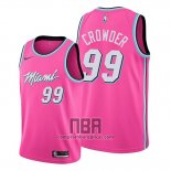 Camiseta Miami Heat Jae Crowder NO 99 Earned 2019-20 Rosa
