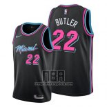 Camiseta Miami Heat Jimmy Butler NO 22 Ciudad 2019 Negro