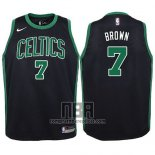 Camiseta Nino Boston Celtics Jaylen Brown NO 7 Statement 2017-18 Negro