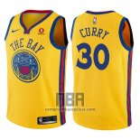 Camiseta Nino Golden State Warriors Stephen Curry NO 30 Ciudad Amarillo