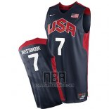 Camiseta USA 2012 Russell Westbrook NO 7 Negro