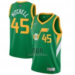 Camiseta Utah Jazz Donovan Mitchell NO 45 Earned 2020-21 Verde